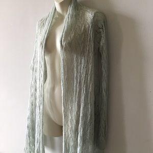 Moda International mohair nylon waterfall duster M